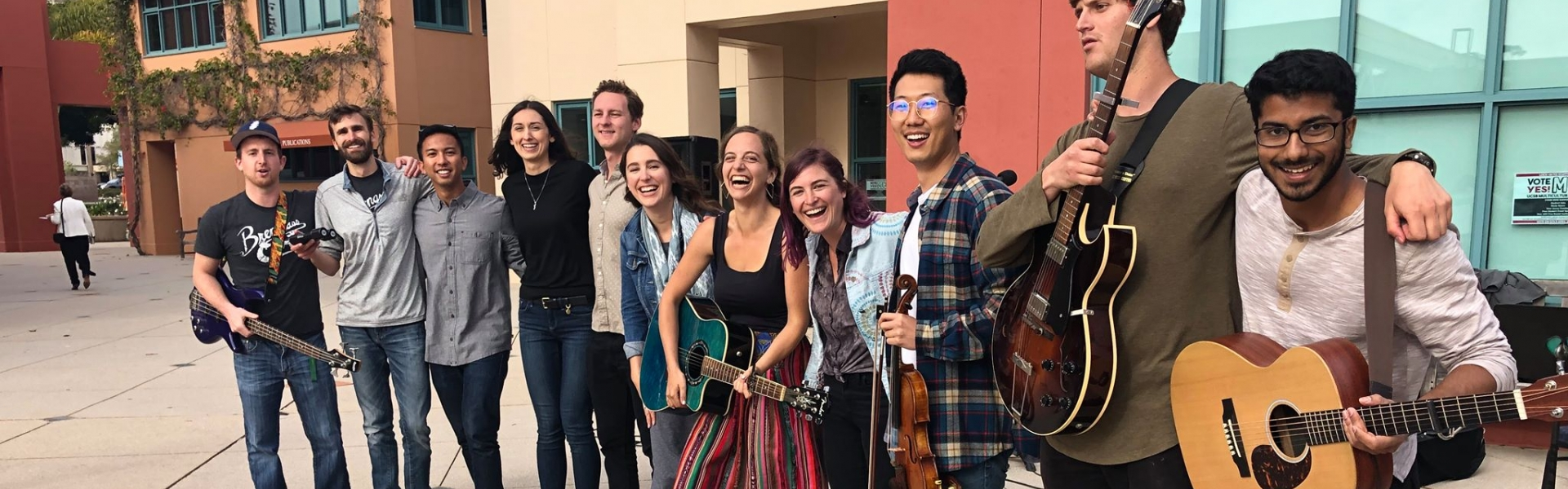 Brengrass: group of students holding various instruments