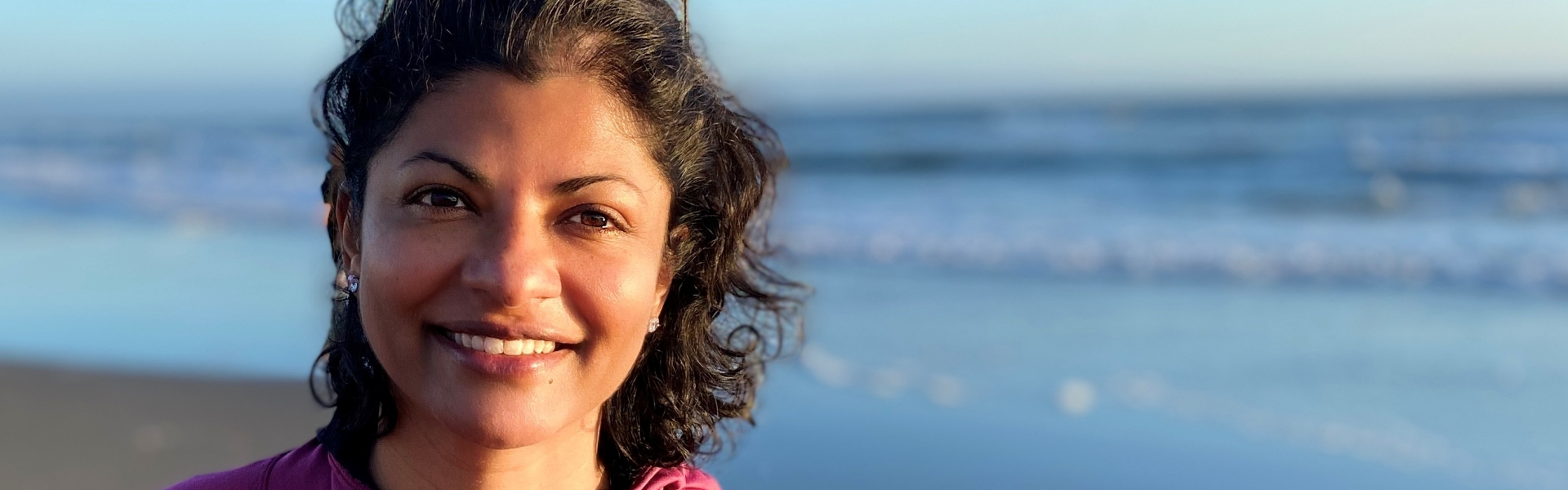 Woman at a sunny beach