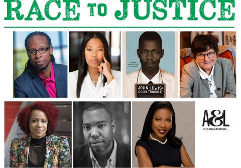Race to Justice text with banner of speaker faces