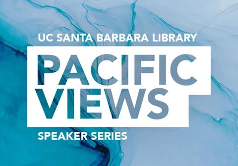 Library speaker series logo: Pacific Views
