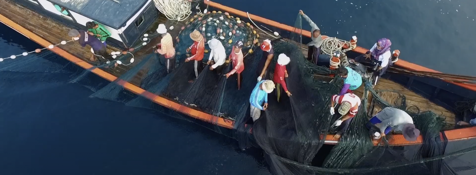 Small scale fisheries boat on ocean