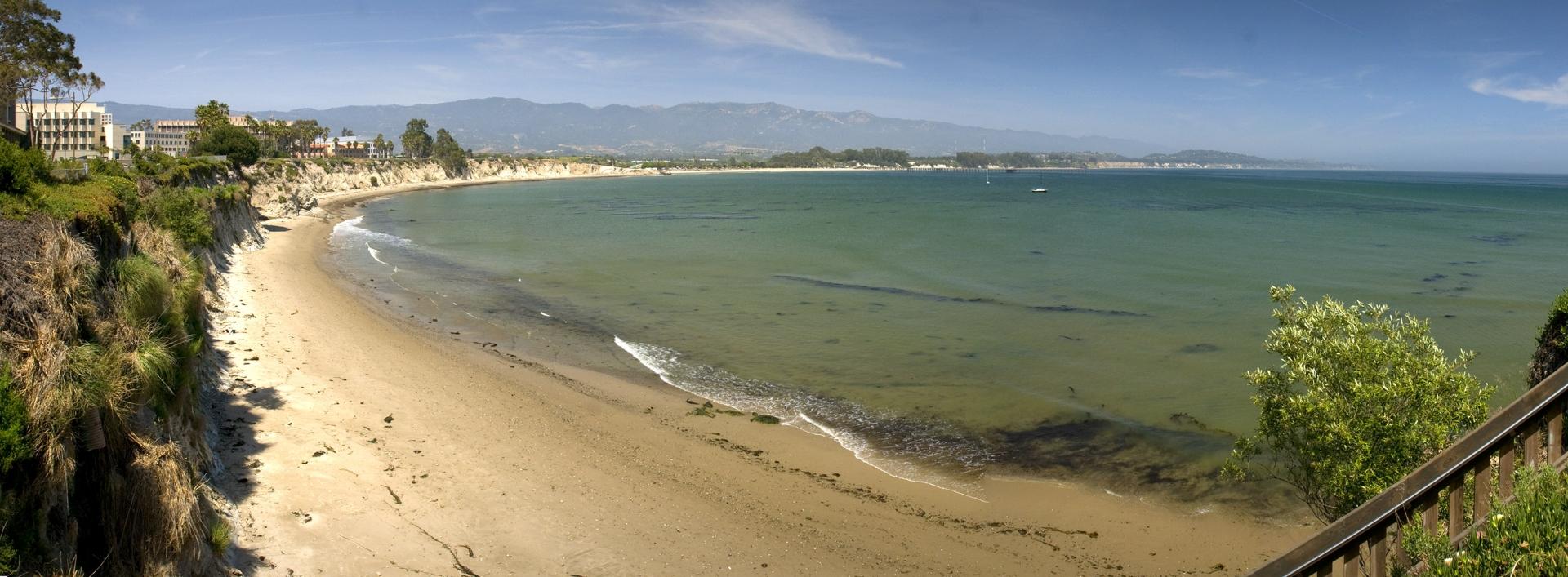 Sandy shoreline and beach