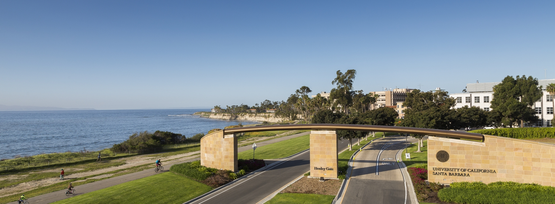UCSB campus entrance by the beach