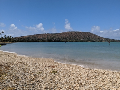 Maunalua Bay water and sand