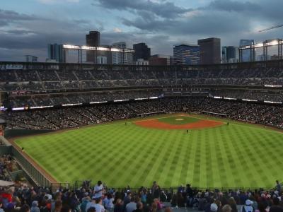 Baseball field and stadium