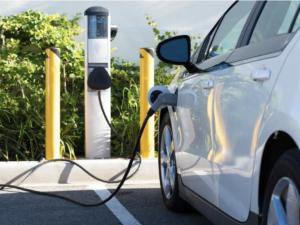 Car charging at a station